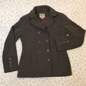 Levis pea coat brown with buttons